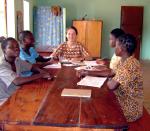 Catéchèse avec Sr Iwona à  Kouandé.